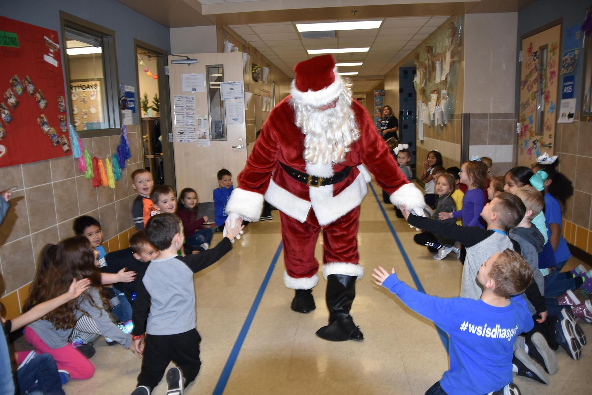 Santa visited every WSISD school in December when the Foundation awarded $25,000 in grants.