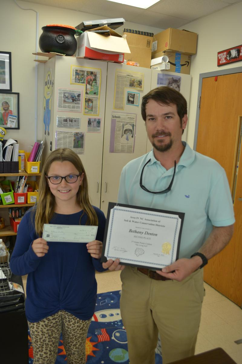 Bethany Denton wins poster contest for soil conservation. Featured Photo