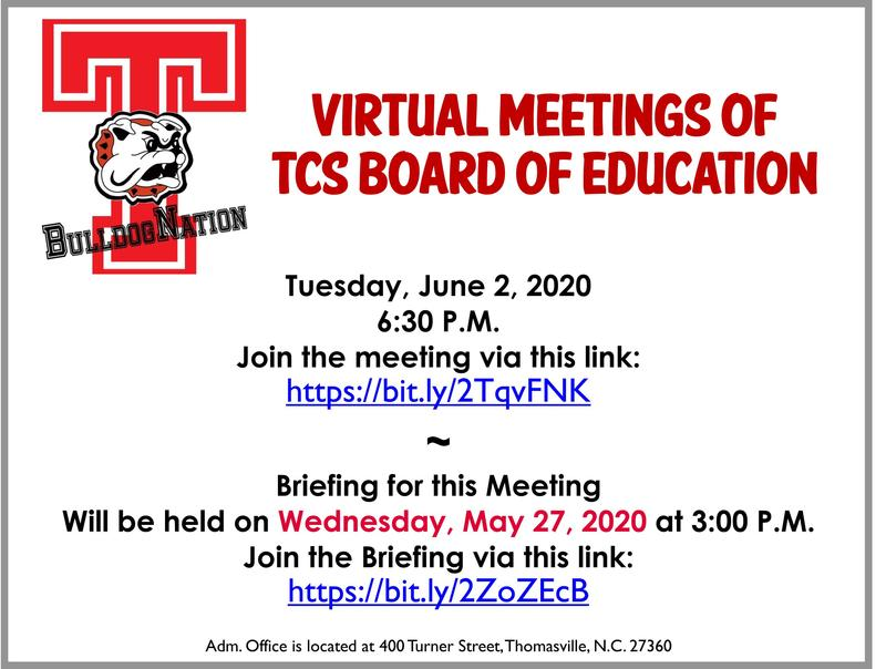 6-2-20 BOE Meeting Announcement