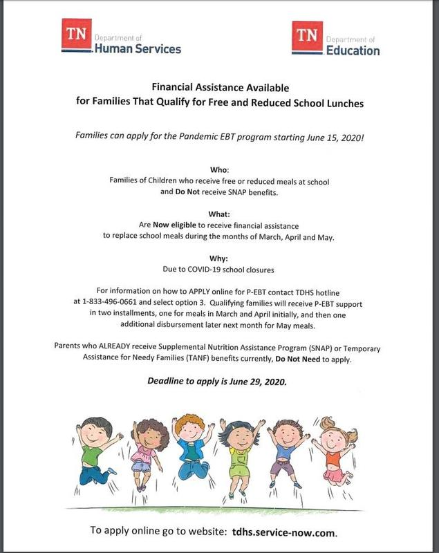 Financial Assistance for Families Eligible for Free and Reduced School Lunch