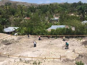 St. Timothee's in Haiti begins construction