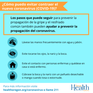 What can I do to avoid getting the corona virus image (spanish)