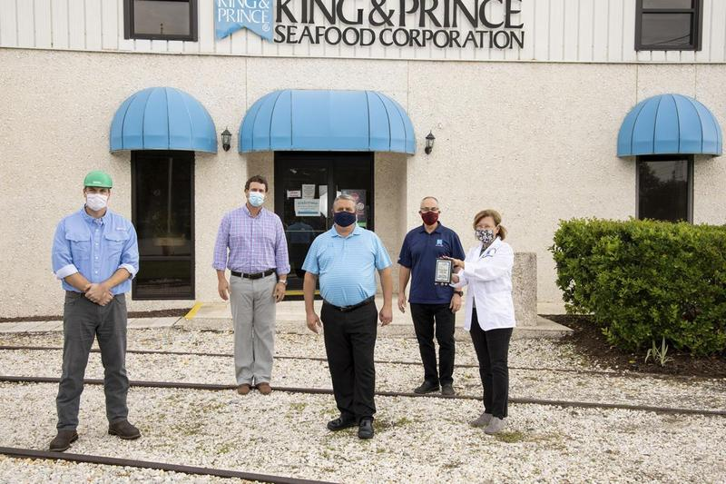 King & Prince Seafood was named the 2020 Business Partner of the Year by the Georgia Association for Career and Technical Education Work-Based Learning affiliate for the southeast region of Georgia.