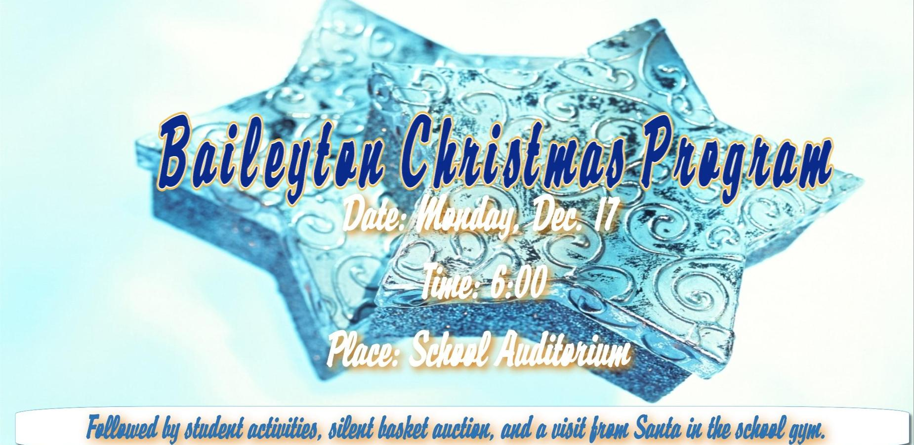 Baileyton Christmas Program