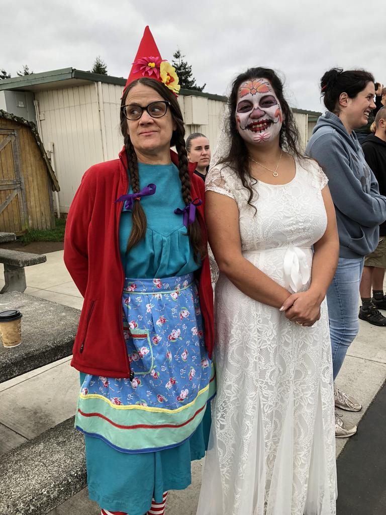 Gnome and Dia de los Muertos costumes