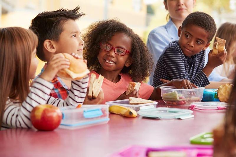 Children Eating Lunch
