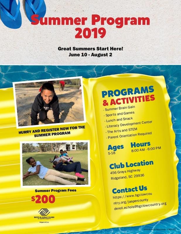 Boys & Girls Club Summer Camp (Ridgeland Club Location Only) Featured Photo