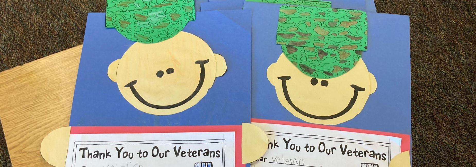 Student Artwork- Smiling face with military hat