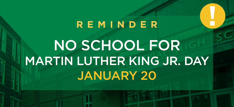 NO SCHOOL 1/20 in observance of Martin Luther King Jr. Day Featured Photo