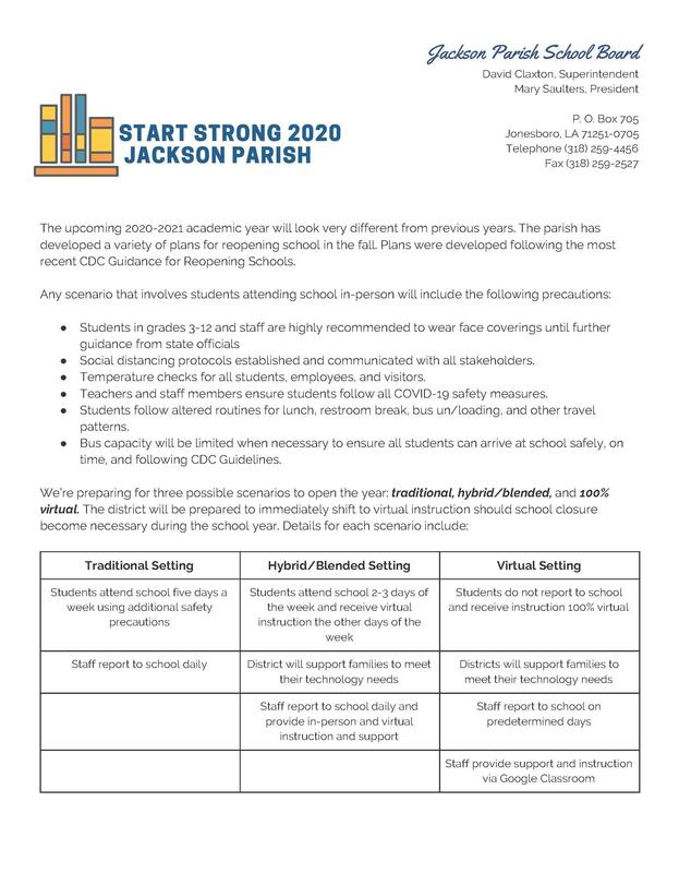 START STRONG 2020 Jackson Parish Thumbnail Image