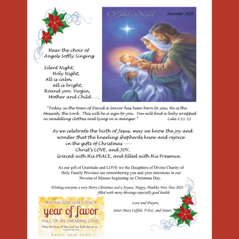 Christmas and New Year Message from Sister Mary and Sisters Featured Photo
