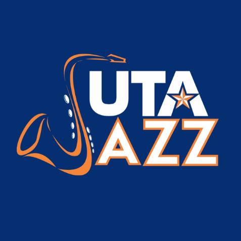 graphic with saxophone reads UTA jazz