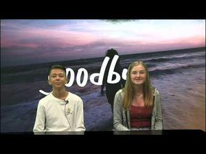 This is a screenshot of two Tuffree Leadership students reading the morning announcements.