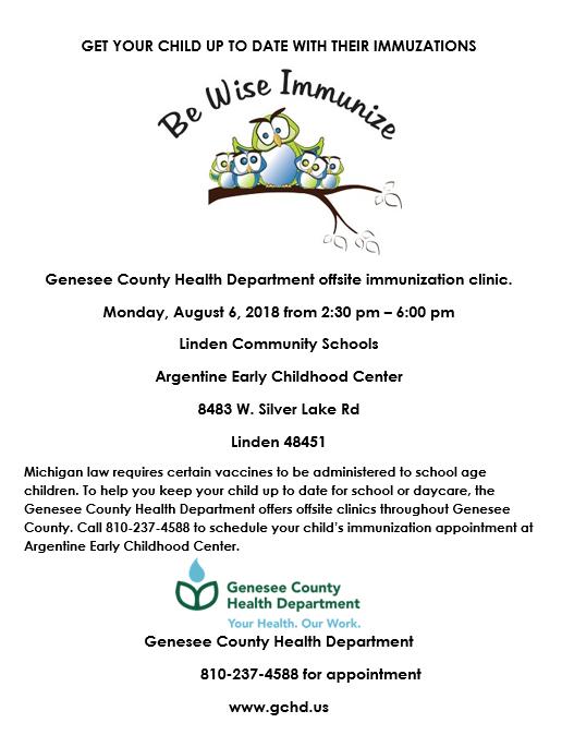 Immunization dates