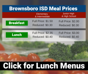 Meal prices and lunch menus
