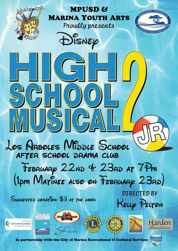Flyer promoting High School Musical 2 Jr.