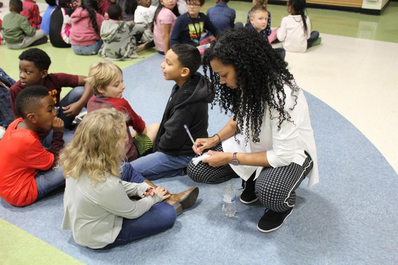 Author Tracey Baptiste at River Gate Elementary