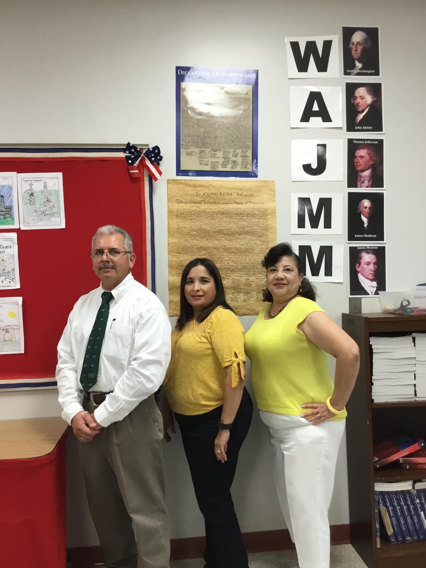 Image of: 8th Grade History Team