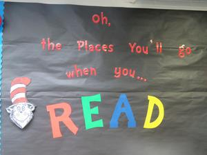 Throughout the month, special days at school will encourage reading!