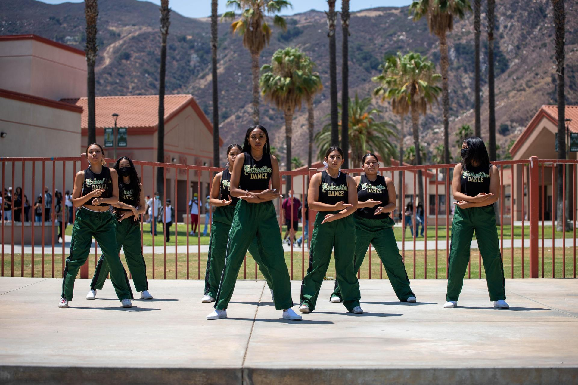 Dance Performing at Welcome Back Rally