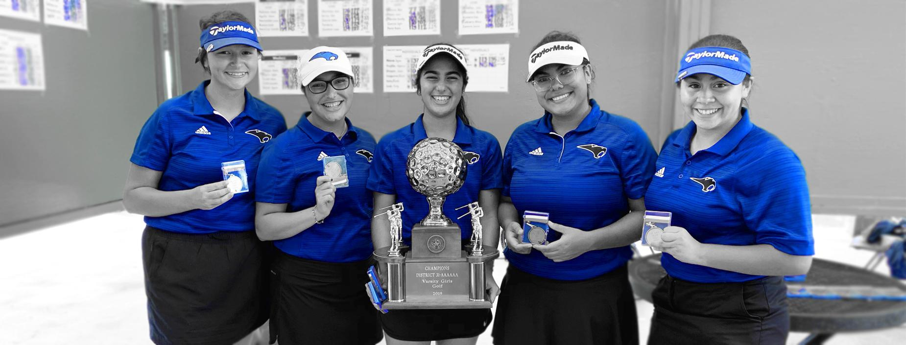 Lady Golf 31-6A District Champions