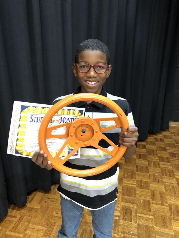 January Overall Student of the Month for School Spirit - Jayden Bunbury! Featured Photo