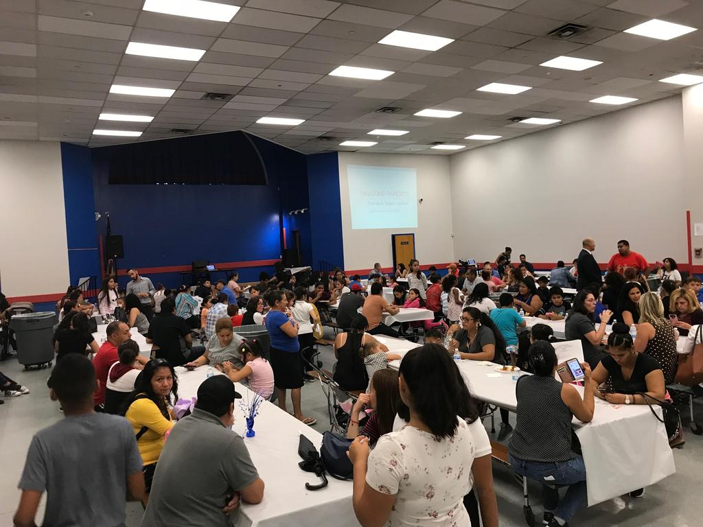 families ready for this years Back to School night to begin