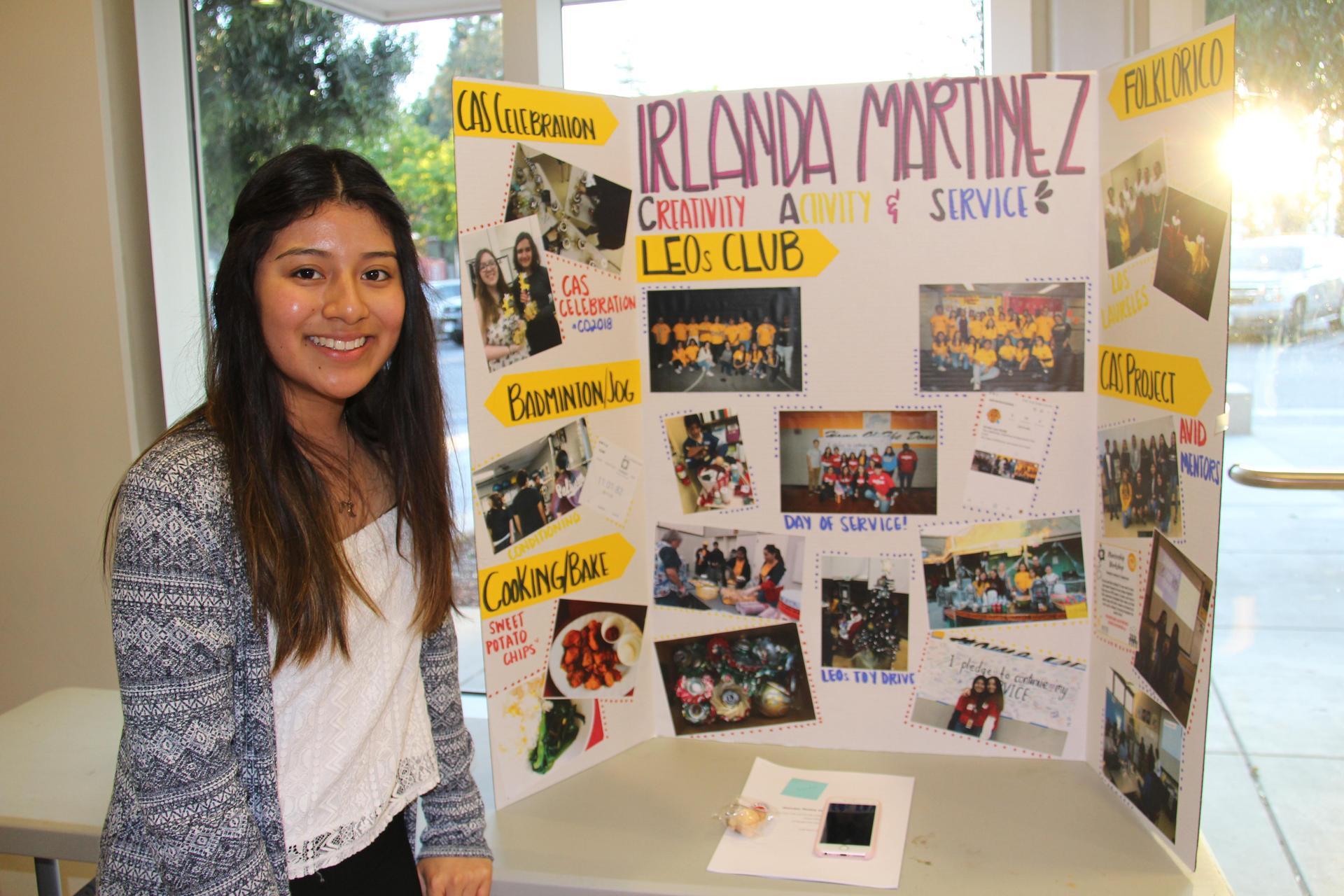 Image of IB Student - Irlanda - showcasing her Creativity, Activity & Service experiences