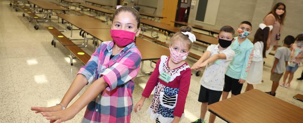 Fairmont Elementary students tour the cafeteria