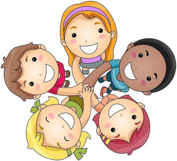 Students in a Circle Clipart