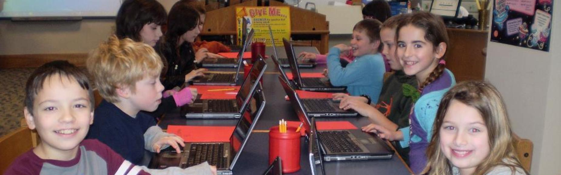 Kids on Computers Picture