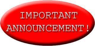 Red Oval with Important Announcement Text