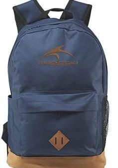 Photo of a navy blue backpack for the backpack giveaway event.