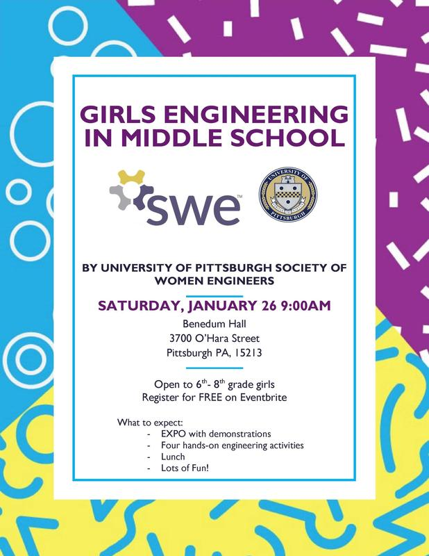 Girls in 6th – 8th grade are invited to  Girls Engineering in Middle School  Day (GEMS) on Saturday, January 26, 2019. Featured Photo