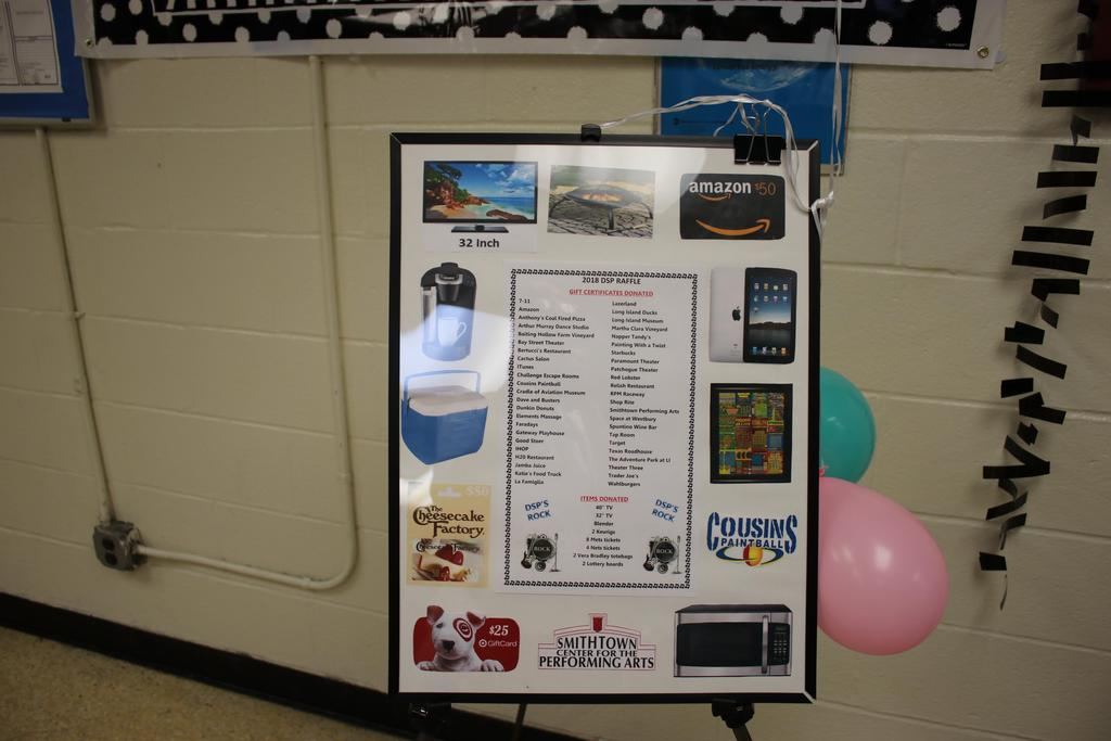 Pic of prizes for DSP Day