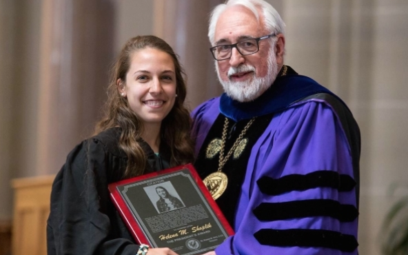 Helena Shoplik receives President's Award