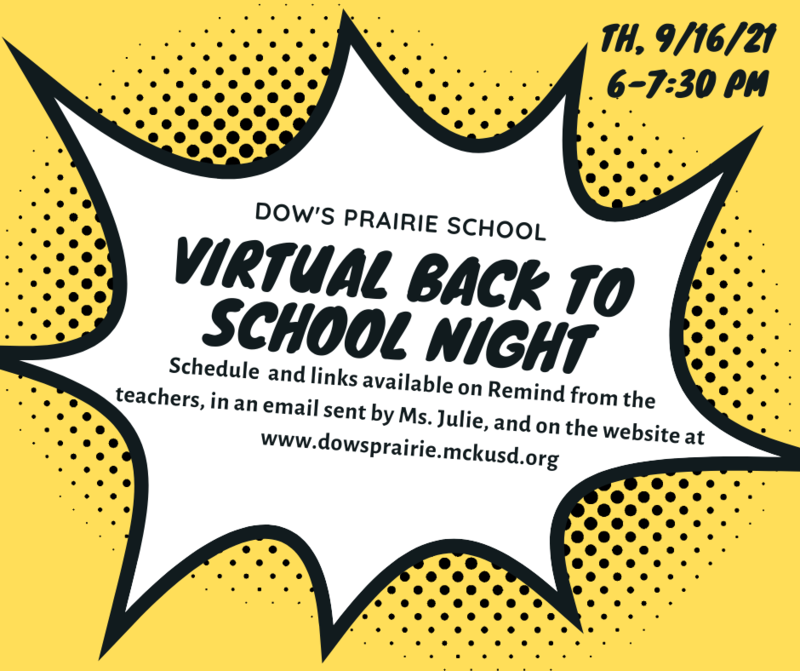 Dow's Prairie Back to School Night 2021! Featured Photo