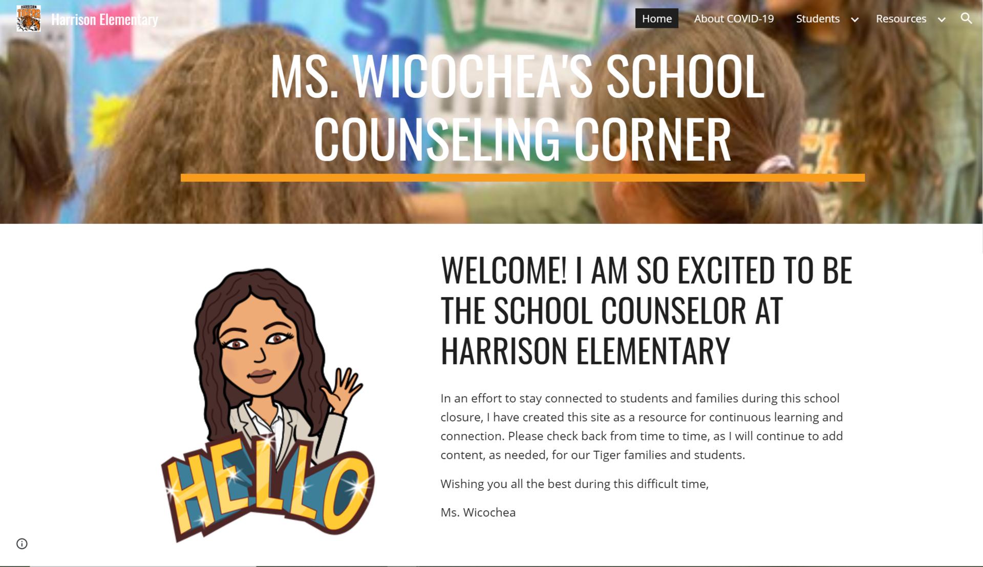 Ms. Wicochea's Counseling Corner