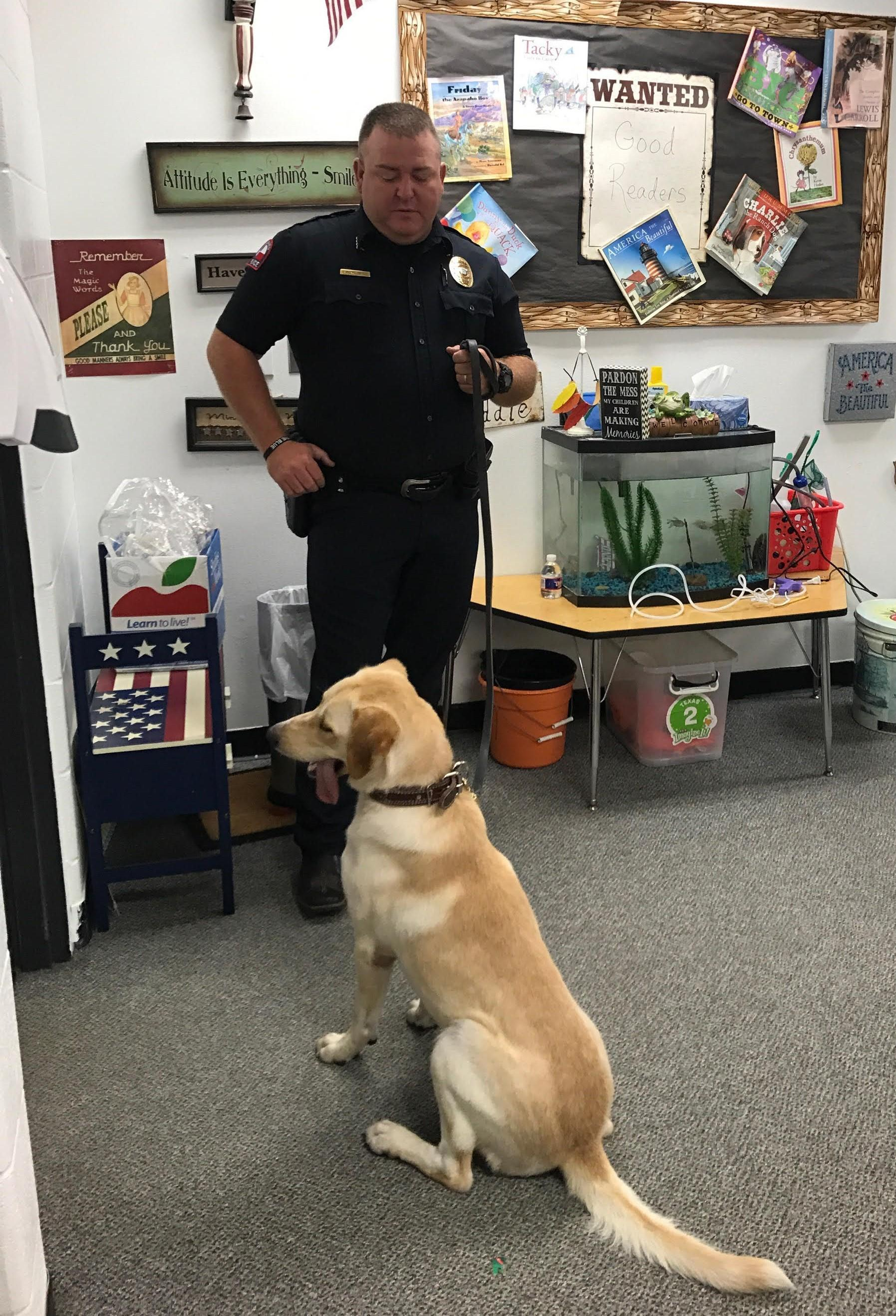 Drug Dog Visits Second Grade