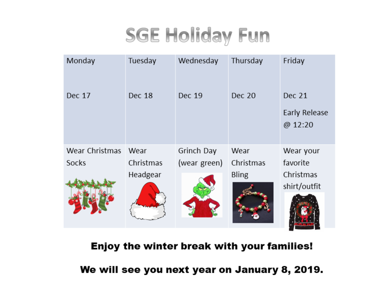 Join Us in Holiday Fun December 17th - 21st! Thumbnail Image