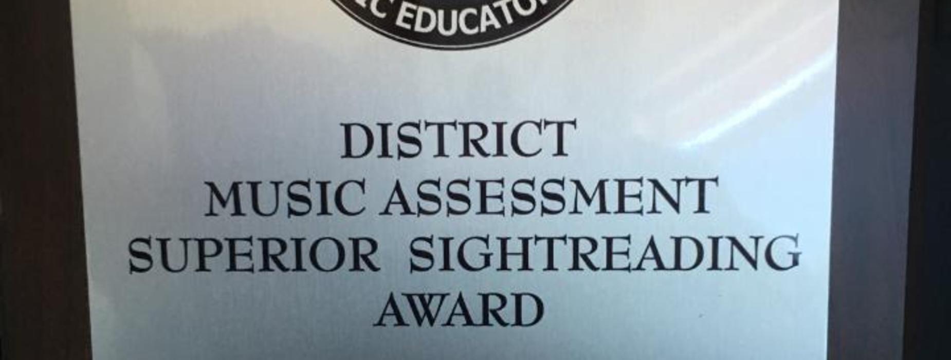 LES Band place in District Music Assessment Superior for sightreading