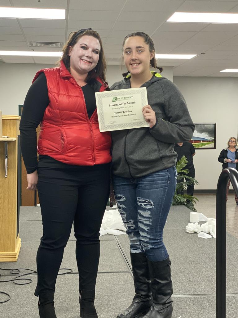 Health Careers Student of the Month