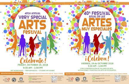 Thumbnail for the English and Spanish versions of the Very Special Arts Festival Flyer
