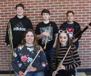 Smith MS All-Region Band members