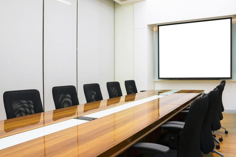 Picture of a boardroom.