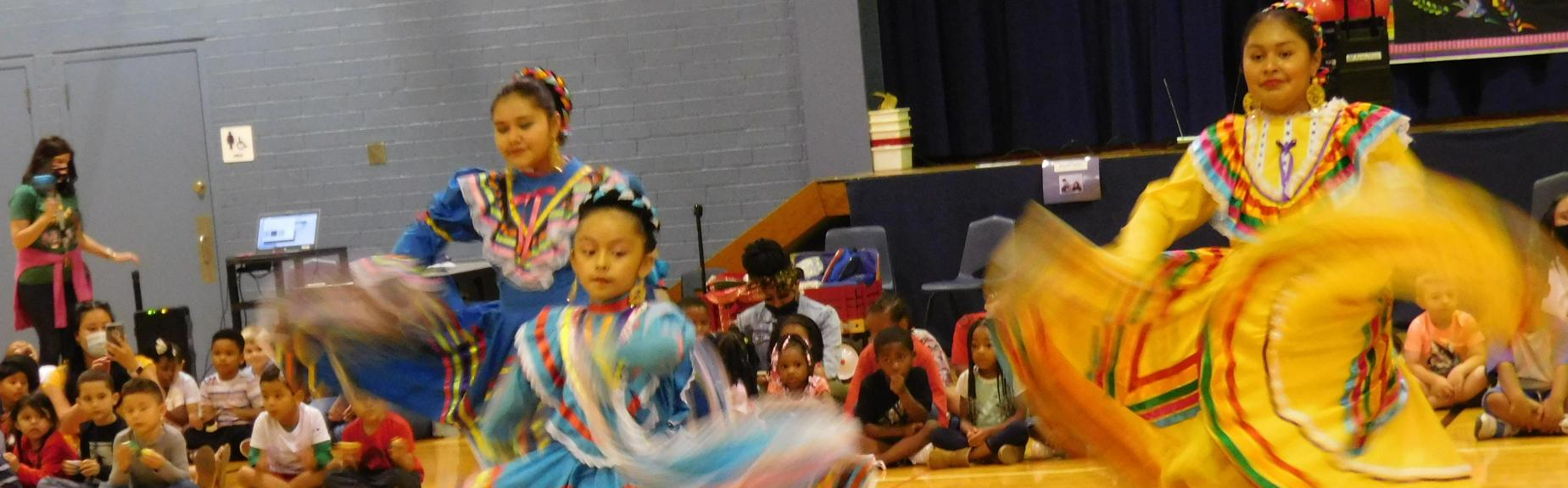 Visiting Students Dance in celebration of Cinco de Mayo