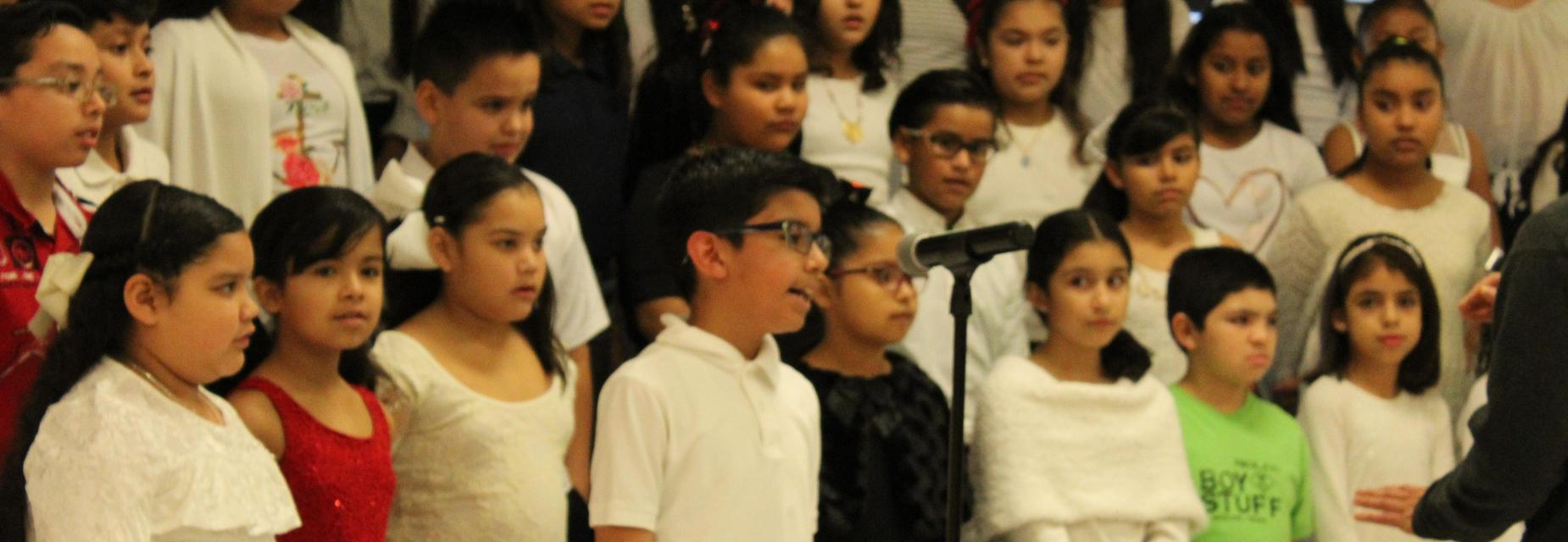 Waitz student's solo during Christmas concert