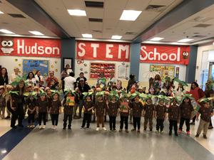 all the students dressed as book characters together