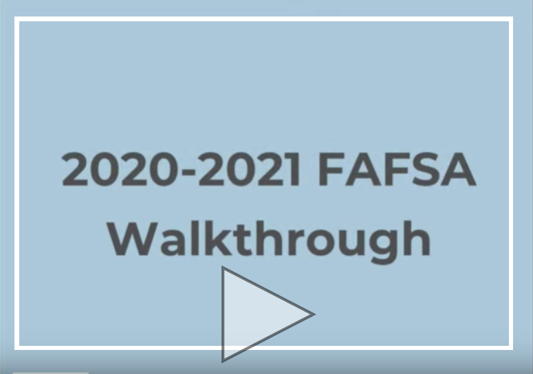 FAFSA Walkthrough
