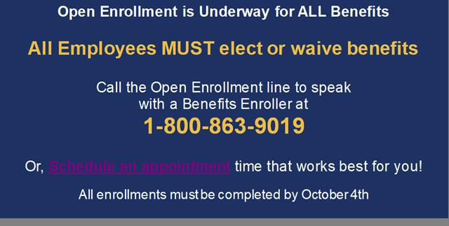 open enrollment message